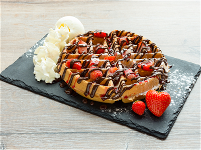 Foto Strawberry Delight Waffle